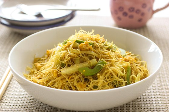 singapore chow mei fun recipe